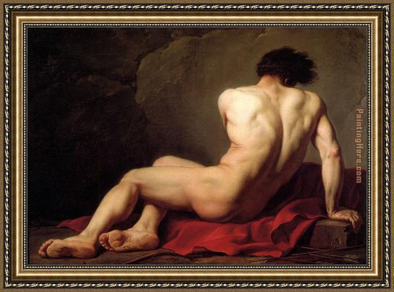 Jacques-Louis David Male Nude known as Patroclus Framed Painting