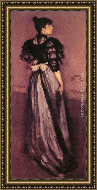 James Abbott McNeill Whistler Mother of Pearl and Silver The Andalusian Framed Painting