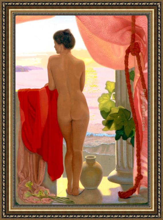 James Childs From The Terrace Framed Painting