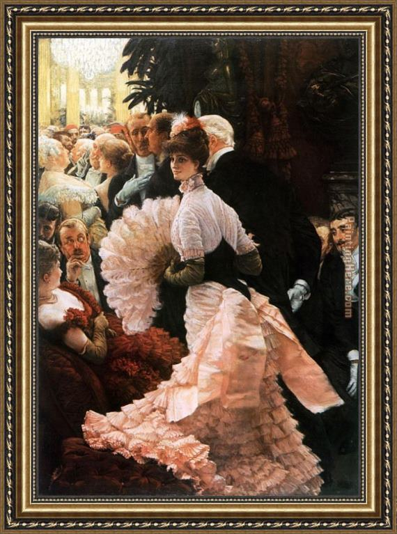 James Jacques Joseph Tissot The Political Lady Framed Painting