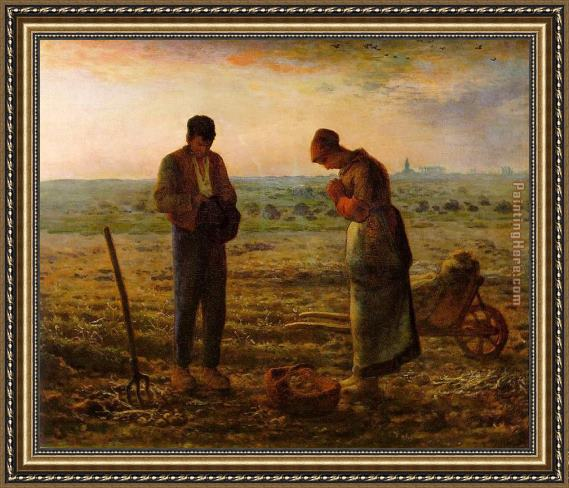 Jean Francois Millet The Angelus Framed Painting For Sale