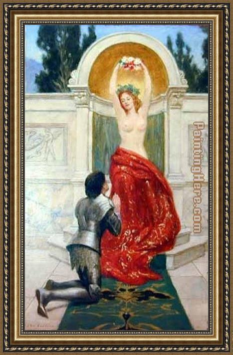 John Collier Tannhauser in the Venusberg Framed Painting