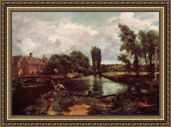 John Constable A Water-Mill Framed Painting