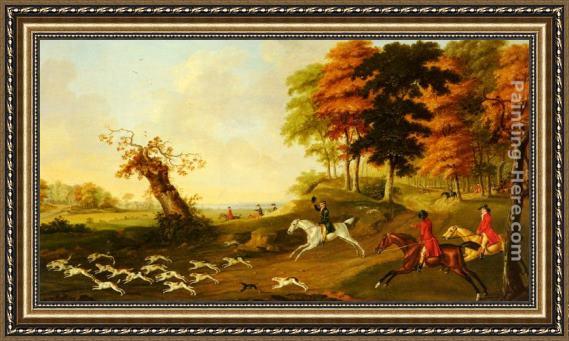 John Nost Sartorius Fox Hunting Framed Painting for sale ...