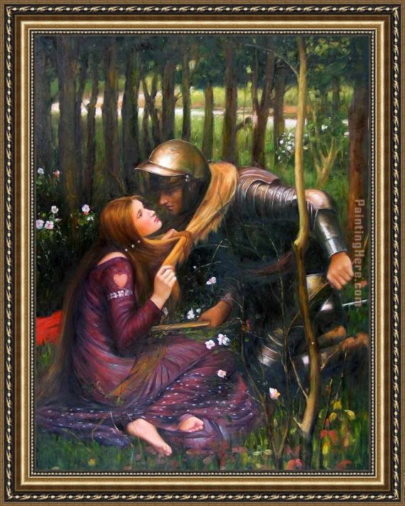 John William Waterhouse The Beautiful Woman Without Mercy Framed Painting