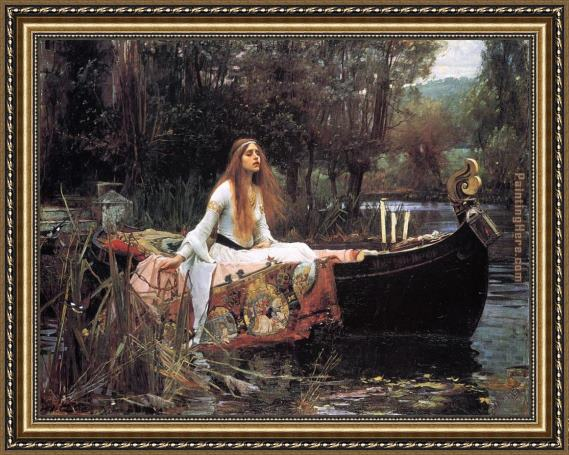 John William Waterhouse The Lady of Shalott Framed Painting