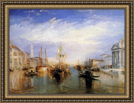 Joseph Mallord William Turner The Grand Canal Venice Framed Painting