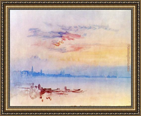 Joseph Mallord William Turner Venice Looking East from the Guidecca Sunrise Framed Painting