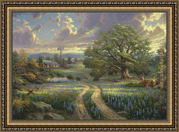 Kirill Thomas Kinkade Country Living Framed Painting