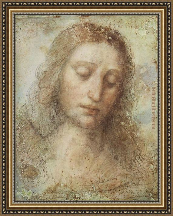 Leonardo da Vinci Head of Christ Framed Painting