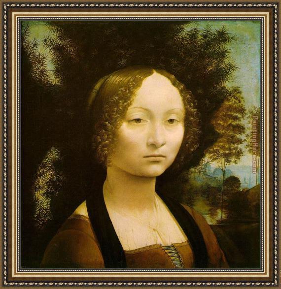 Leonardo Da Vinci Portrait Of Ginevra Benci Framed