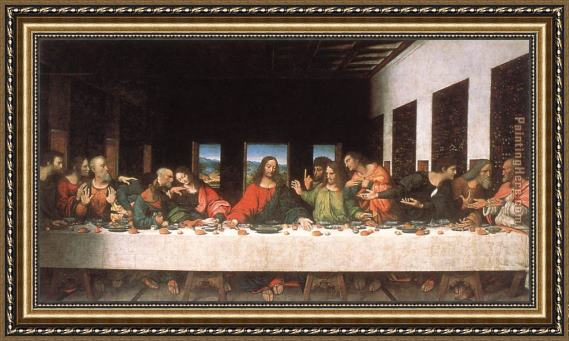 Leonardo da Vinci The Last Supper Framed Painting