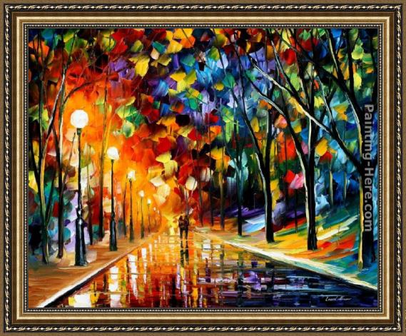 Leonid Afremov ROMANTIC EVENING Framed Painting