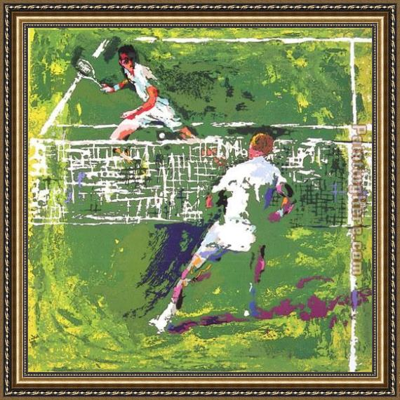 Leroy Neiman Tennis Players Framed Painting