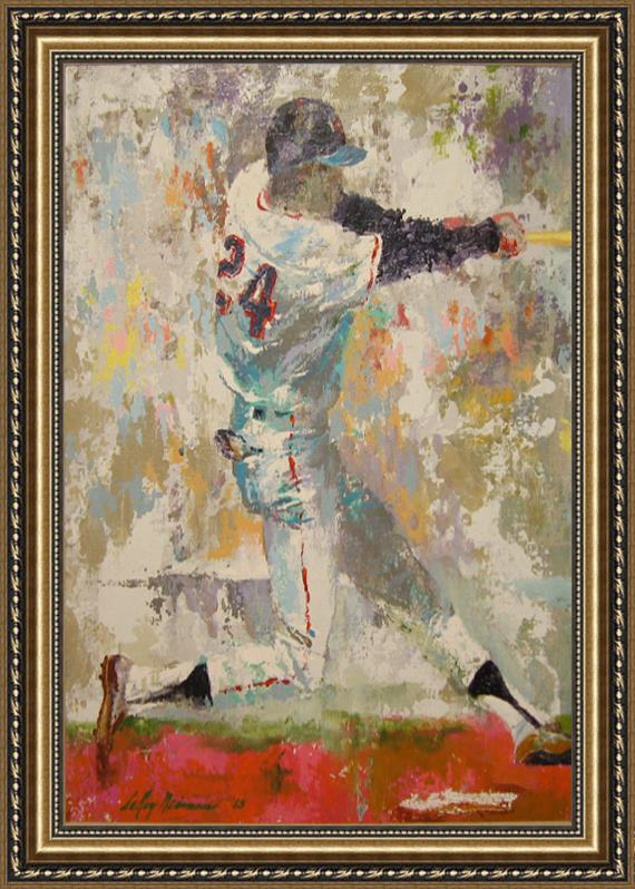 Leroy Neiman Willie Mays b Framed Painting