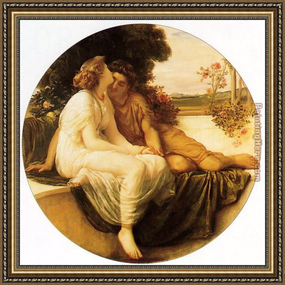 Lord Frederick Leighton Acme and Septimus Framed Painting