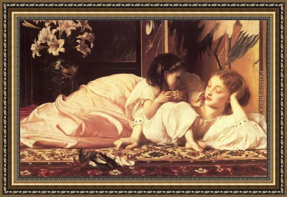 Lord Frederick Leighton Leighton Mother and Child Framed Painting