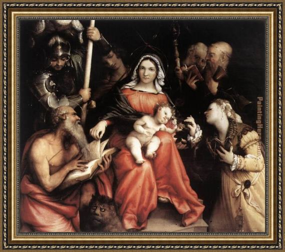 Lorenzo Lotto Mystic Marriage of St Catherine Framed Painting