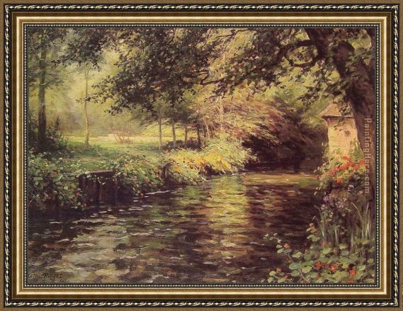 Louis Aston Knight A Sunny Morning at Beaumont-Le Roger Framed Painting
