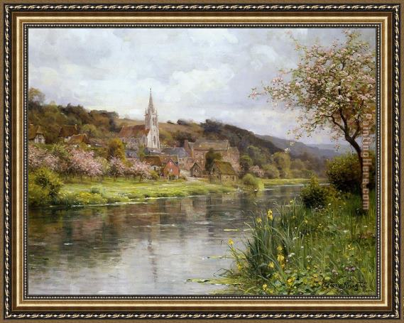 Louis Aston Knight Along the Seine Framed Painting