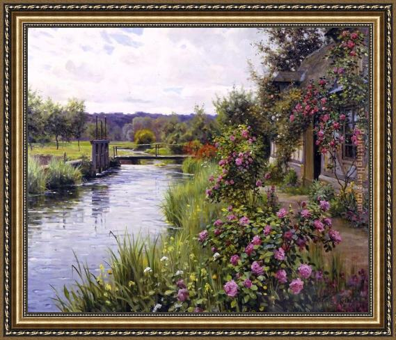 Louis Aston Knight flowers in bloom Framed Painting