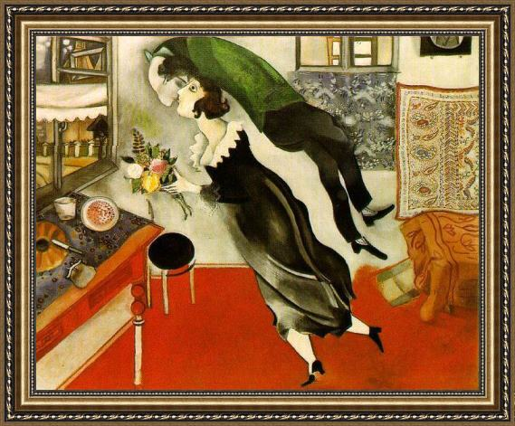 Marc Chagall Birthday Framed Painting