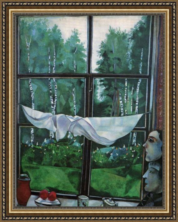 Marc Chagall Window in the Country Framed Painting for sale ...