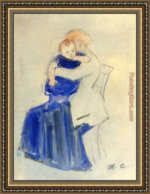 Mary Cassatt Mother And Child 5 Framed Painting