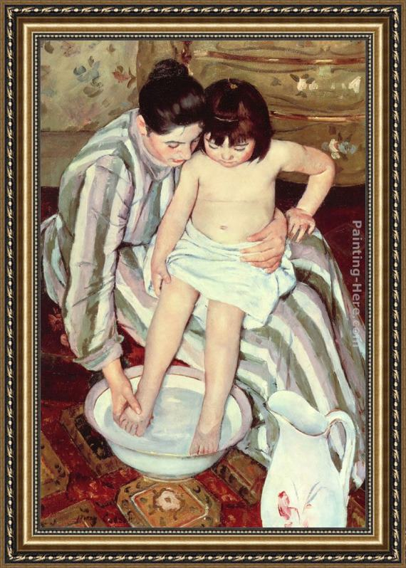 Mary Cassatt The Bath Framed Painting