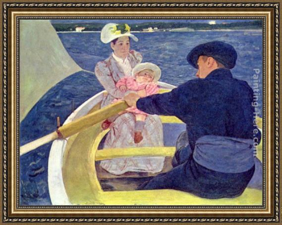 Mary Cassatt The Boating Party Framed Painting