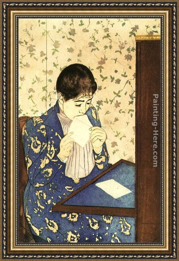 Mary Cassatt The Letter Framed Painting