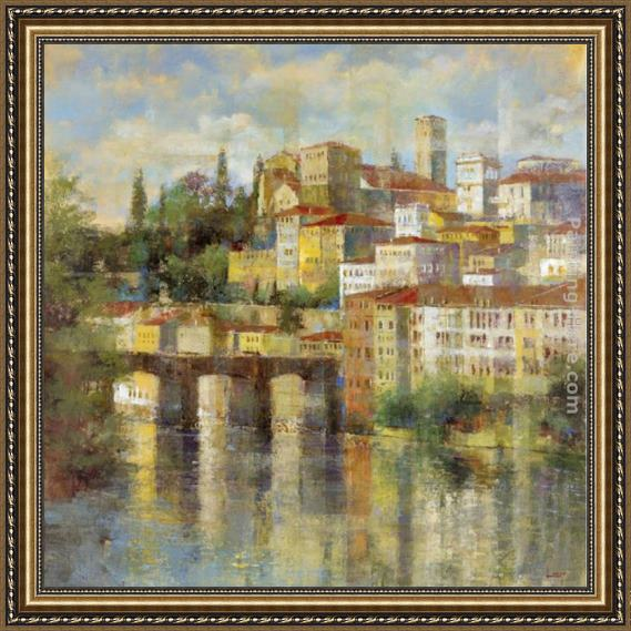 Michael Longo City Gateway Framed Painting