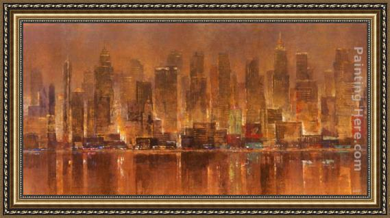 Michael Longo City Lights Framed Painting