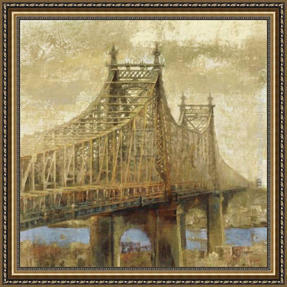 Michael Longo East River Bridge II Framed Painting