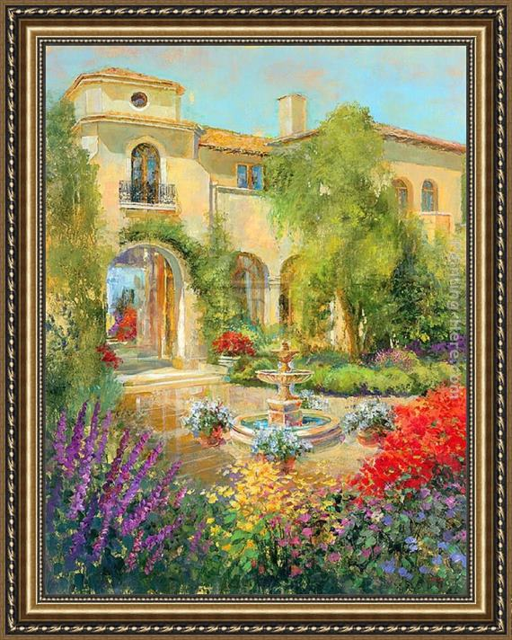 Michael Longo Spanish Courtyard II Framed Painting