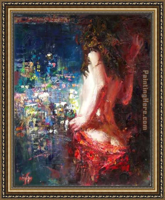 Misti Pavlov Girl In The City Framed Painting