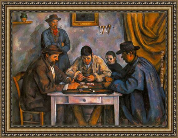 Paul Cezanne Card Players Framed Painting