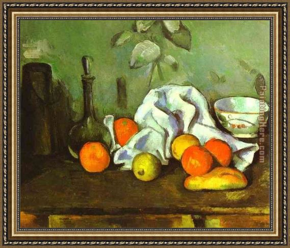 Paul Cezanne Still Life with Fruit Framed Painting