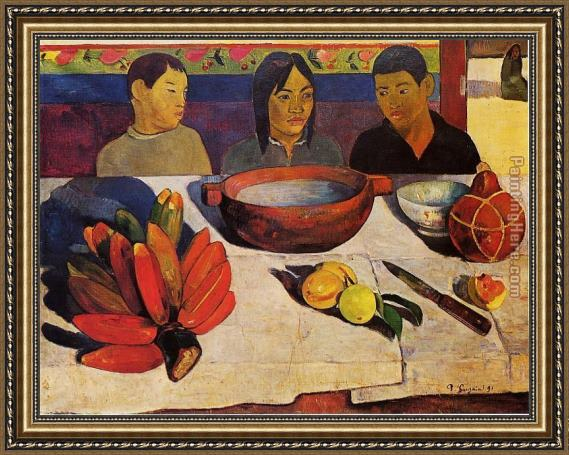 Paul Gauguin The Meal Framed Painting