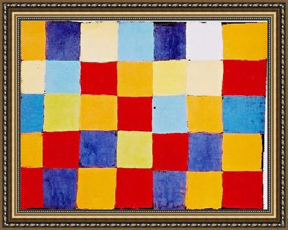 Paul Klee Farbtafel Framed Painting