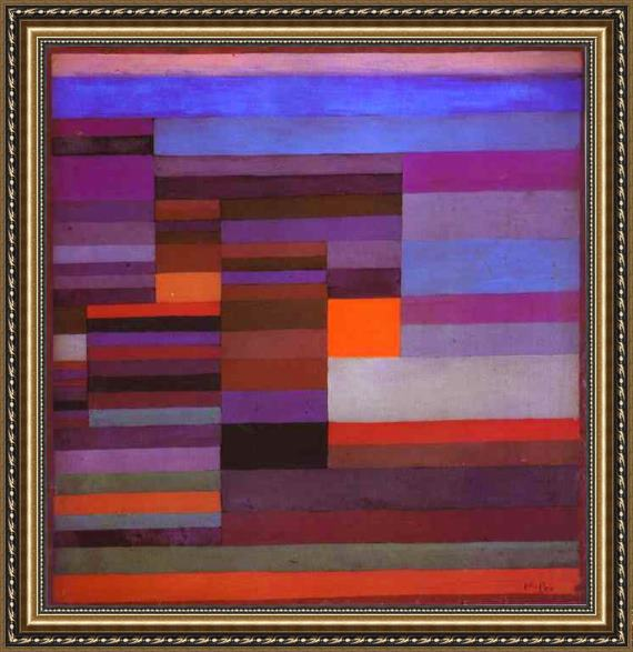 Paul Klee Fire in the Evening Framed Painting