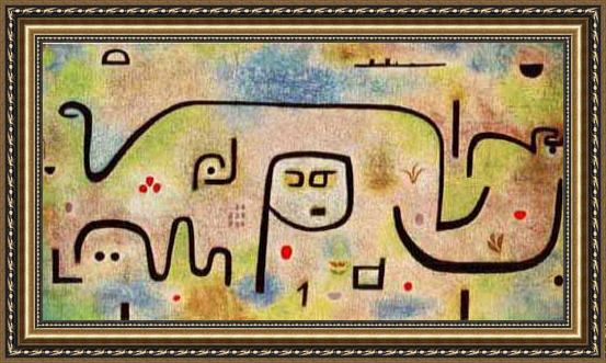 Paul Klee Insula Dulcamara Framed Painting