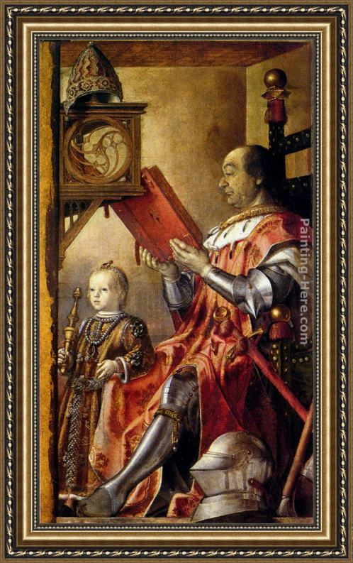 Pedro Berruguete Federico Da Montefeltro With His Son