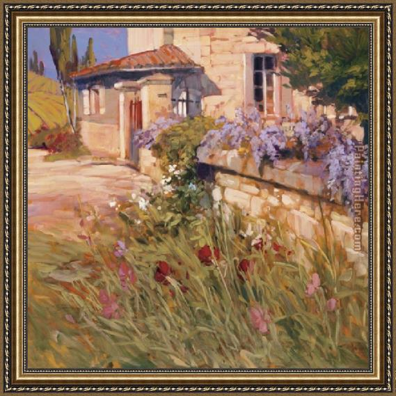 Philip Craig Wisteria Wall Framed Painting