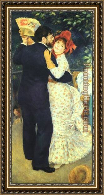 Pierre Auguste Renoir Dance in the Country I Framed Painting