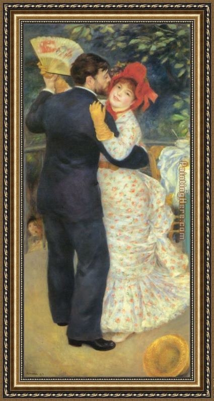 Pierre Auguste Renoir Dance in the Country Framed Painting