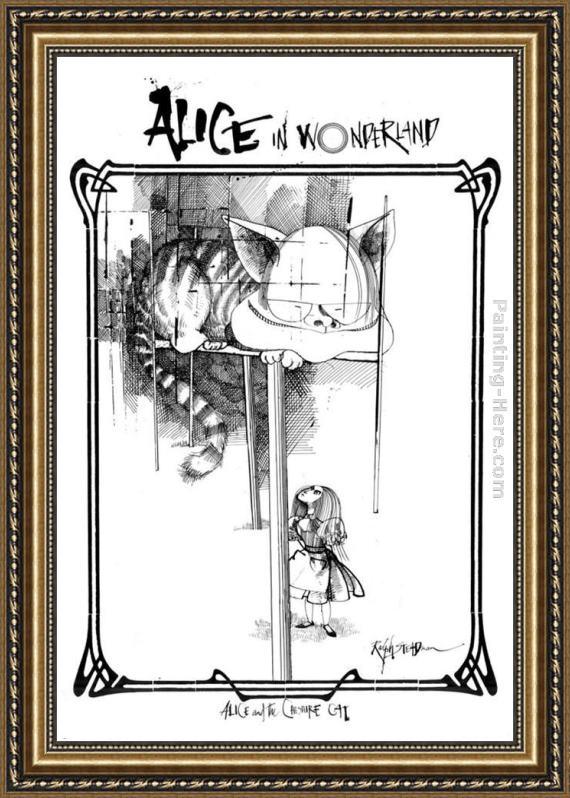 Ralph Steadman Art Alice in Wonderland II Framed Painting for sale ...