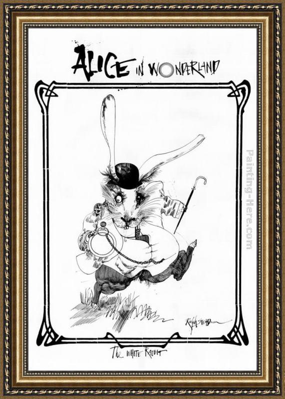 Ralph Steadman Art Alice in Wonderland Framed Painting for sale ...