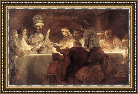 Rembrandt The Conspiration of the Bataves Framed Painting