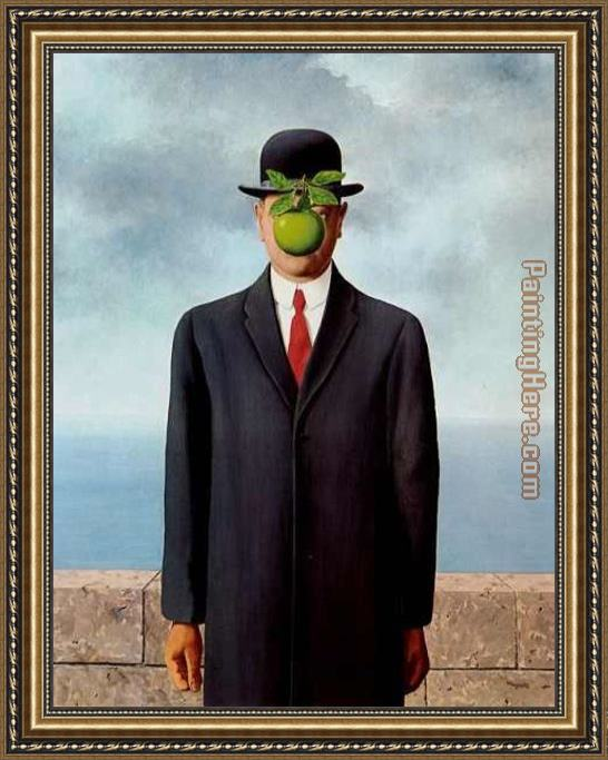 Rene Magritte The Son of Man Framed Painting